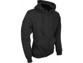 Tac Zipped Fleece Hoodie Black